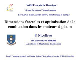 Dimensions fractales et optimisation de la combustion dans les moteurs à piston