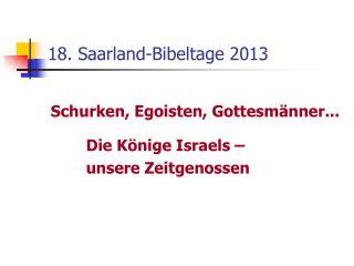 18. Saarland-Bibeltage 2013
