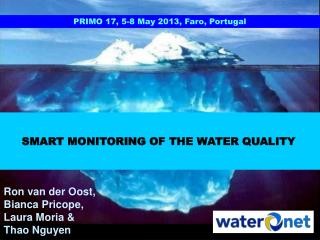 SMART MONITORING OF THE WATER QUALITY