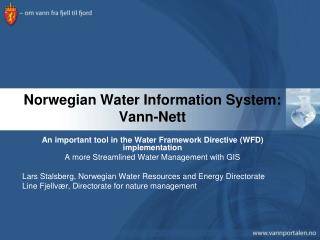 Norwegian Water Information System: Vann-Nett