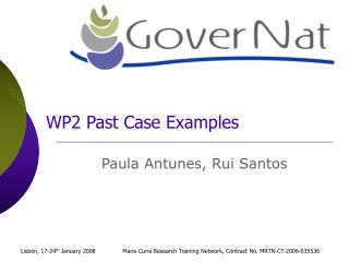 WP2 Past Case Examples