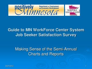 Guide to MN WorkForce Center System  Job Seeker Satisfaction Survey