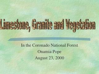 Comparison of Three Vegetation Sampling Methods
