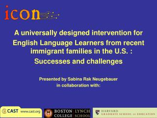 A universally designed intervention for