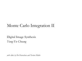 Monte Carlo Integration II