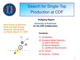 Search for Single-Top Production at CDF