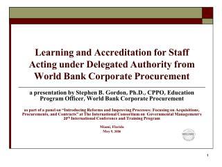 World Bank Corporate Procurement