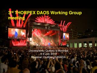 3rd THORPEX DAOS Working Group meeting