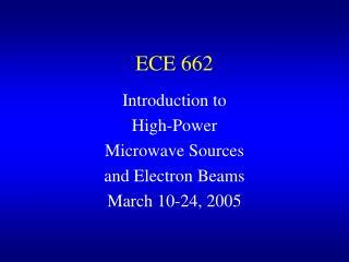 ECE 662