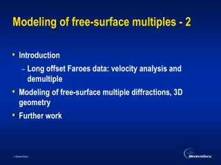 Modeling of free-surface multiples - 2