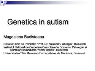 Genetica in autism
