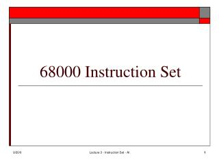 68000 Instruction Set