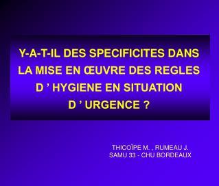 THICOÏPE M. , RUMEAU J. SAMU 33 - CHU BORDEAUX