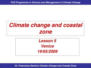 Climate change and coastal zone