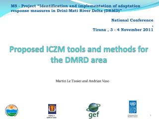 Proposed ICZM tools and methods for the DMRD area
