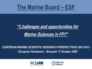 The Marine Board – ESF