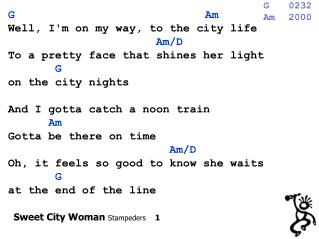 Sweet City Woman  Stampeders     1