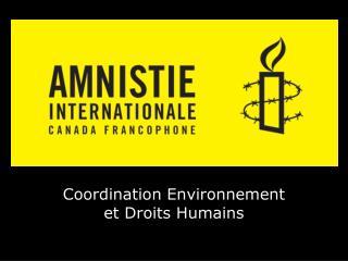 Coordination Environnement et Droits Humains