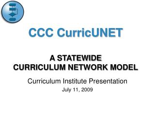 Curriculum Institute Presentation July 11, 2009