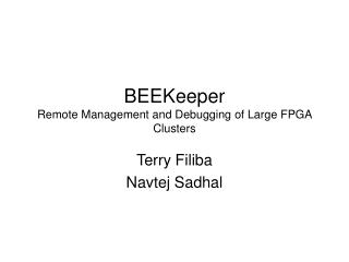 BEEKeeper Remote Management and Debugging of Large FPGA Clusters