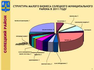 СТРУКТУРА МАЛОГО БИЗНЕСА СОЛЕЦКОГО МУНИЦИПАЛЬНОГО РАЙОНА В 2011 ГОДУ