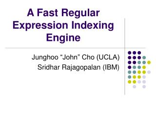 A Fast Regular Expression Indexing Engine