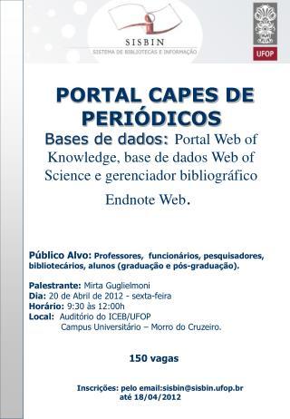 PORTAL CAPES DE  PERIÓDICOS