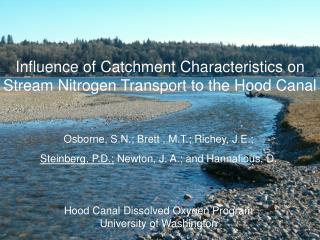 Influence of Catchment Characteristics on Stream Nitrogen Transport to the Hood Canal