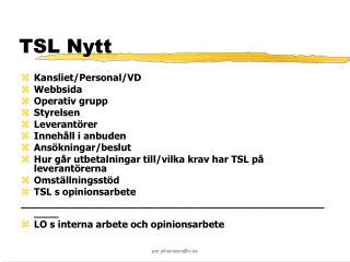 TSL Nytt