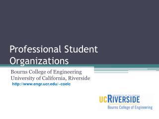 Professional Student Organizations