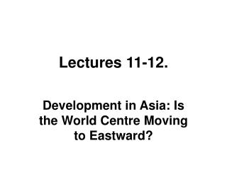 Lectures 11-12.