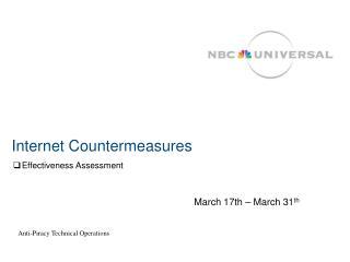 Internet Countermeasures