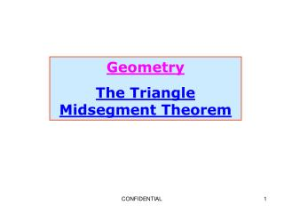 Geometry The Triangle Midsegment Theorem