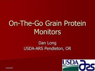 On-The-Go Grain Protein Monitors