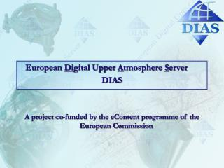European  Di gital Upper  A tmosphere  S erver DIAS