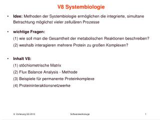 V8 Systembiologie