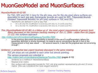 MuonGeoModel and MuonSurfaces
