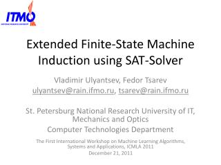 Extended Finite-State Machine Induction using SAT-Solver