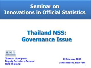 Seminar on  Innovations in Official Statistics