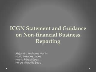 ICGN Statement and Guidance on Non-financial Business Reporting