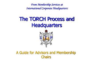 A Guide for Advisors and Membership Chairs