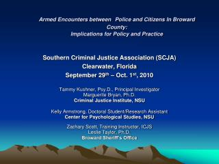 Southern Criminal Justice Association (SCJA)   Clearwater, Florida