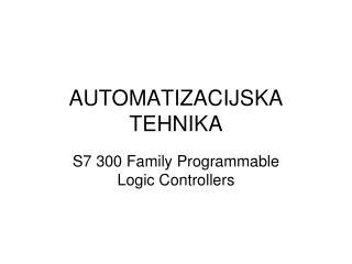 AUTOMATIZACIJSKA TEHNIKA