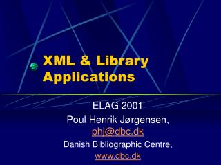 XML & Library Applications