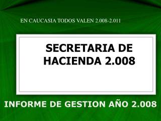 INFORME DE GESTION  AÑO  2.008