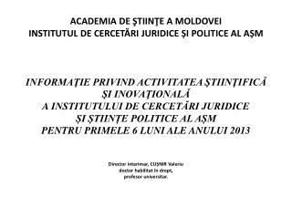 raport Institut 2013 sem