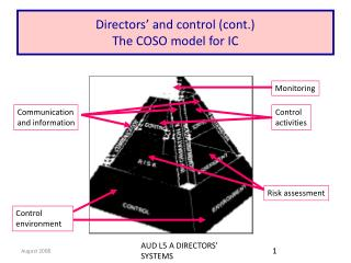 Directors' and control (cont.) The COSO model for IC