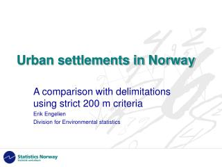 Urban settlements in Norway