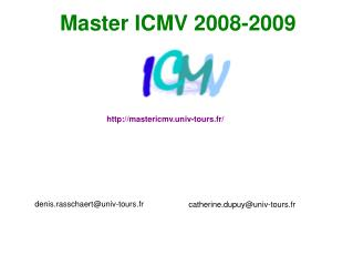 Master ICMV 2008-2009