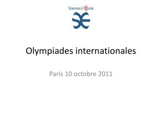 Olympiades internationales